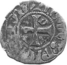 Denier - Arthur II (shield of Dreux with a Britanny quarter) – reverse