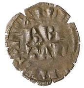 Double-denier Nantes - Charles de Blois (variation sur le double Parisis de Philippe VI) – obverse