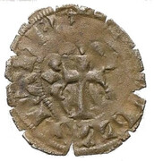 Double-denier Nantes - Charles de Blois (variation sur le double Parisis de Philippe VI) – reverse