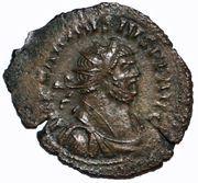 Antoninianus - Carausius (GENIO POPVLI ROMANI; Londinium) – obverse