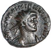 Antoninianus - Maximian I (struck under Carausius; PAX; Londinium) – obverse