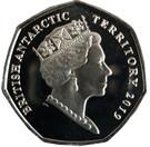 50 Pence - Elizabeth II Adélie penguin – obverse