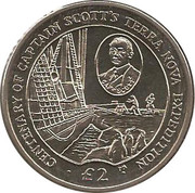2 Pounds - Elizabeth II (Scott's Terra Nova Expedition) – reverse