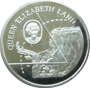 2 Pounds - Elizabeth II (Queen Elizabeth Land; Silver Proof Issue) – reverse