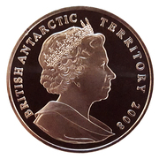 2 Pounds - Elizabeth II (Letters Patent of British Antarctica) – obverse