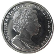 2 Pounds - Elizabeth II (Letters Patent of British Antarctica; Silver Proof Issue) – obverse