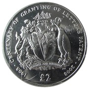 2 Pounds - Elizabeth II (Letters Patent of British Antarctica; Silver Proof Issue) – reverse
