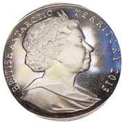 2 Pounds - Elizabeth II (Queen Elizabeth Land) – obverse