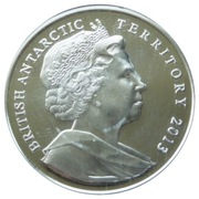 2 Pounds - Elizabeth II (Queen Elizabeth Land; Silver Proof Issue) – obverse