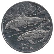 2 Pounds - Elizabeth II (Hourglass Dolphin) – reverse
