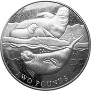 2 Pounds - Elizabeth II (Crabeater Seal) – reverse