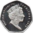 50 Pence - Elizabeth II  (Adélie penguin - coloured) – obverse