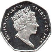 50 Pence - Elizabeth II  (Chinstrap penguin) -  obverse