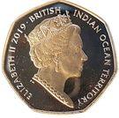 50 Pence - Elizabeth II (Green Turtle) – obverse