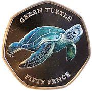 50 Pence - Elizabeth II (Green Turtle) – reverse