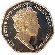 50 Pence - Elizabeth II (Hawksbill Turtle) – obverse