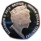 50 Pence - Elizabeth II  (Loggerhead Turtle) – obverse