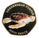 50 Pence - Elizabeth II  (Loggerhead Turtle) – reverse