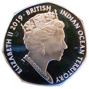50 Pence - Elizabeth II  (Leatherback Turtle) – obverse