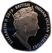 50 Pence - Elizabeth II  (Olive Ridley Turtle) – obverse