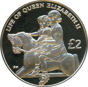 2 Pounds - Elizabeth II (Princess Margaret) – reverse