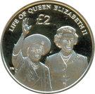 2 Pounds - Elizabeth II (Diamond Jubilee; Silver Proof Issue) – reverse
