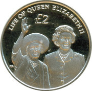 2 Pounds - Elizabeth II (Diamond Jubilee; Silver Proof Issue) – reverse