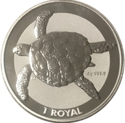 1 Royal - Elizabeth II (Sea Turtle) – reverse