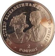 2 Pounds - Elizabeth II (Elizabeth II and Prince Philip) – reverse