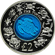 2 Pounds - Elizabeth II (Life of the Turtle) – reverse