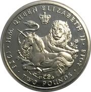 2 Pounds - Elizabeth II (Sapphire Coronation - Proof) – reverse