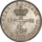 ½ Dollar - George IV – reverse