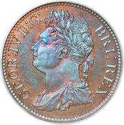 1/100 Dollar - George IV – obverse