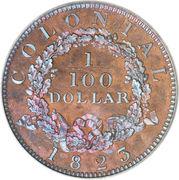 1/100 Dollar - George IV – reverse