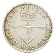⅛ Dollar - George IV – reverse