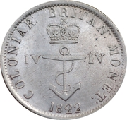 ¼ Dollar - George IV – reverse