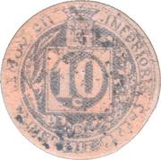 10 Centimes (Brive) – reverse