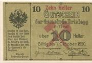 10 Heller (Brixlegg) – obverse