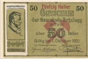 50 Heller (Brixlegg) – obverse
