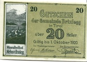 20 Heller (Brixlegg) – obverse