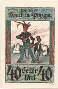 40 Heller (Bruck im Pinzgau) – obverse