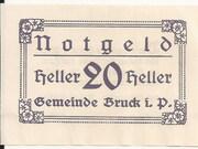 20 Heller (Bruck im Pinzgau) – obverse