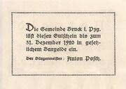 20 Heller (Bruck im Pinzgau) – reverse