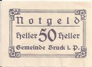 50 Heller (Bruck im Pinzgau) – obverse