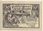 50 Heller (Bruck – Waasen) – obverse