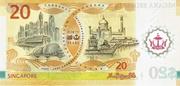 20 Dollar (40 Years of Currency Interchangeability) – reverse