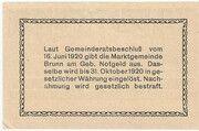 10 Heller (Brunn am Gebirge) – reverse