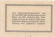20 Heller (Brunn am Gebirge) – reverse
