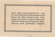 50 Heller (Brunn am Gebirge) – reverse