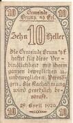 10 Heller (Brunn an der Erlauf) -  obverse